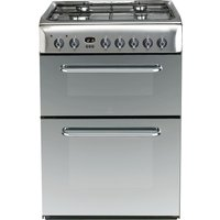 INDESIT  KDP60SES 60 cm Dual Fuel Cooker - Mirror & Stainless Steel, Stainless Steel
