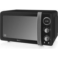 SWAN Retro Digital SM22030BN Solo Microwave - Black, Black