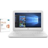 "HP Stream 11-y053na 11.6"" Laptop - White, White"