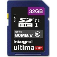 INTEGRAL  UltimaPro Class 10 SDHC Memory Card - 32 GB