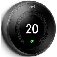 NEST Learning Thermostat - 3rd Generation, Black, Black