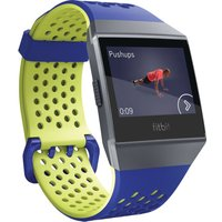 FITBIT Ionic Sport Band - Blue & Yellow, Large, Blue