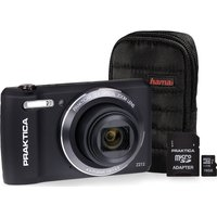 PRAKTICA Luxmedia Z212-BK Compact Camera & Accessories Bundle - Black, Black