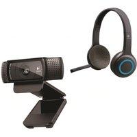 LOGITECH Wireless Headset & Full HD Webcam Bundle