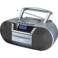 JVC RC-D327B DAB/FM Bluetooth Boombox - Grey, Grey
