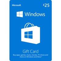 MICROSOFT  Windows Gift Card - £25