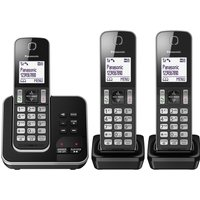 PANASONIC KX-TGD323EB Cordless Phone with Answering Machine - Triple Handsets