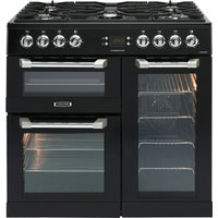 LEISURE  Cuisinemaster CS90F530K Dual Fuel Range Cooker - Black & Chrome, Black