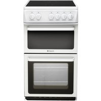 HOTPOINT HAE51PS Electric Ceramic Cooker - White, White