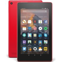 AMAZON Fire 7 Tablet with Alexa (2017) - 8 GB, Punch Red, Red