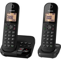 PANASONIC KX-TGC422EB Cordless Phone with Answering Machine - Twin Handsets