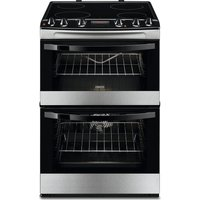 ZANUSSI ZCV664FPX 60 cm Electric Ceramic Cooker - Stainless Steel, Stainless Steel