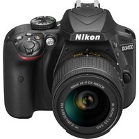 NIKON  D3400 DSLR Camera with 18-55 mm f/3.5-5.6 Zoom Lens - Black, Black