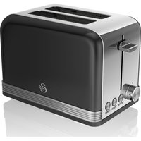 SWAN ST19010BN 2-Slice Toaster - Black, Black