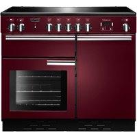 RANGEMASTER Professional 100 Induction Range Cooker - Cranberry & Chrome, Cranberry