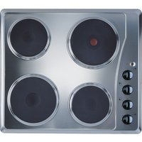 INDESIT TI 60 X Electric Solid Plate Hob - Silver, Silver