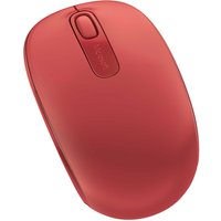 MICROSOFT 1850 Wireless Mobile Optical Mouse - Red, Red