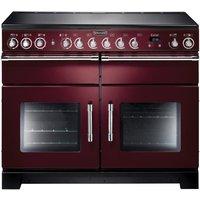 RANGEMASTER Excel 110 Electric Ceramic Range Cooker - Cranberry & Chrome, Cranberry