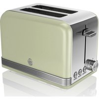 SWAN ST19010GN 2-Slice Toaster - Green, Green