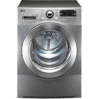 LG RC8055EH2M Heat Pump Tumble Dryer - Steel