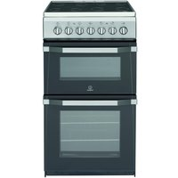 INDESIT IT50C1 S 50 cm Electric Cooker - Silver, Silver