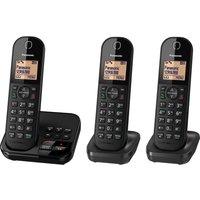 PANASONIC KX-TGC423EB Cordless Phone with Answering Machine - Triple Handsets