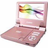 CURTIS DVD7014UK Portable DVD Player - Pink, Pink