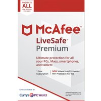 MCAFEE LiveSafe Premium - 1 user / unlimited devices for 1 year