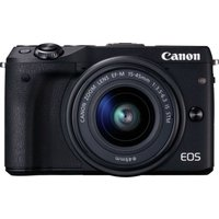 CANON  EOS M3 Compact System Camera with 15-45 mm f/3.5-6.3 Wide-angle Zoom Lens - Black, Black
