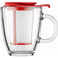 BODUM  Yo Yo Mug & Tea Strainer Set - Red, Red