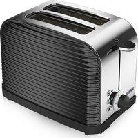 TOWER Linear T20007 2-Slice Toaster - Black, Black