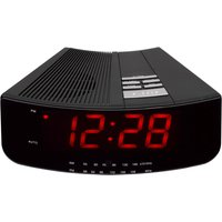 LOGIK  LCRAN12 Analogue Clock Radio - Black, Black