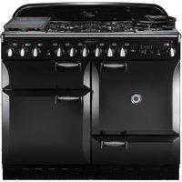 RANGEMASTER Elan 110 Dual Fuel Range Cooker - Black, Black