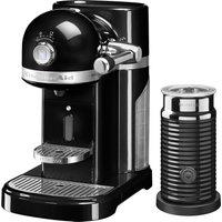 NESPRESSO Artisan Nespresso Hot Drinks Machine with Aeroccino 3 - Onyx Black, Black