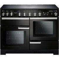 RANGEMASTER Professional Deluxe 110 Induction Range Cooker - Black & Chrome, Black