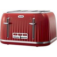BREVILLE Impressions VTT783 4-Slice Toaster - Venetian Red, Red