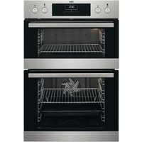 AEG SurroundCook DCB331010M Electric Double Oven - Stainless Steel, Stainless Steel