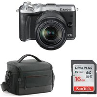 CANON EOS M6 Mirrorless Camera with 18-150 mm f/3.5-6.3 Lens & Accessories Bundle