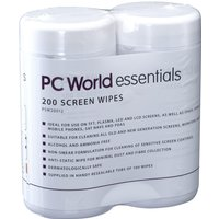 ESSENTIALS  PSW20012 Screen Wipes - 2 packs of 100