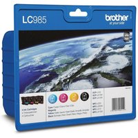 BROTHER LC985VALBP Cyan, Magenta, Yellow & Black Ink Cartridges - Multipack, Cyan