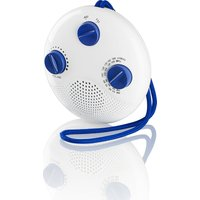 LOGIK  LSR16 Portable Analogue Bathroom Radio - White & Blue, White