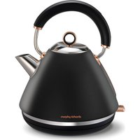 MORPHY RICHARDS Accents 102104 Traditional Kettle - Black & Rose Gold, Black