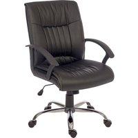 TEKNIK Milan Leather-look Reclining Executive Chair - Black, Black