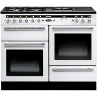 RANGEMASTER Hi-LITE 110 Dual Fuel Range Cooker - White & Chrome, White