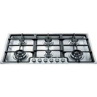 SMEG Classic PGF96 Gas Hob - Stainless Steel, Stainless Steel