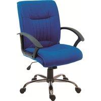 TEKNIK Milan Fabric Reclining Executive Chair - Blue, Blue