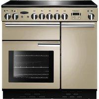 RANGEMASTER Professional 90 Electric Induction Range Cooker - Cream & Chrome, Cream