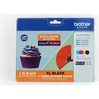BROTHER LC123/LC129XL Cyan, Magenta, Yellow & Black Ink Cartridges - Multipack, Cyan