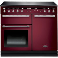 RANGEMASTER Hi-LITE 100 Electric Induction Range Cooker - Cranberry & Chrome, Cranberry
