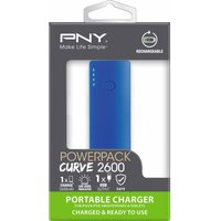 PNY  Curve 2600 Portable Power Bank - Blue, Blue